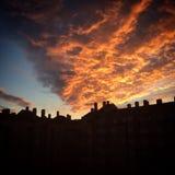 天空跌倒 库存图片