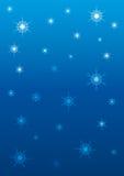 天空雪花星形 向量例证