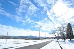 天空雪 库存图片