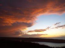 天空风暴 库存照片