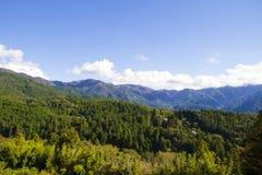 天空绿色山 免版税库存照片