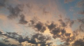 天空od tej颜色 库存照片