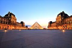 天窗博物馆晚上巴黎 库存照片