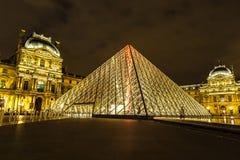 天窗在晚上在巴黎 免版税库存照片