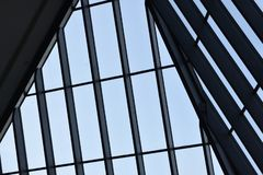 天窗屋顶盘区,几何设计 库存图片