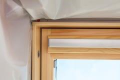 天窗屋顶窗口特写镜头细节  免版税库存照片