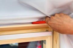 天窗或屋顶窗口外形特写镜头 免版税库存照片