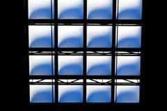 天窗的抽象geometrics 免版税库存照片
