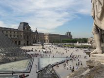 天窗美术馆广场巴黎法国 图库摄影