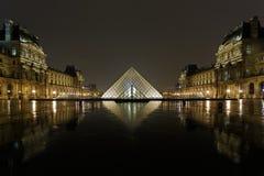 天窗金字塔和Pavillon Richelieu 免版税库存照片