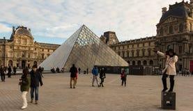 天窗金字塔,巴黎,法国 库存照片