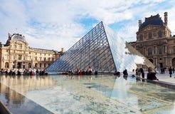 天窗,巴黎玻璃金字塔  免版税库存照片