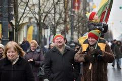 天立陶宛的独立 库存照片