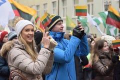 天立陶宛的独立 免版税库存照片