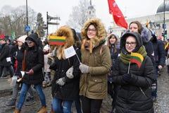 天立陶宛的独立 图库摄影