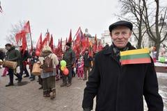 天立陶宛的独立 免版税图库摄影