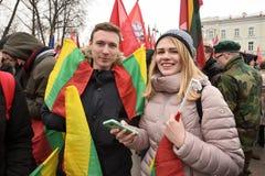 天立陶宛的独立 免版税库存图片