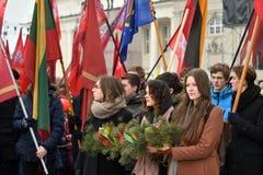 天立陶宛的独立 库存图片