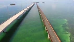 天线七英里桥梁佛罗里达群岛2 股票录像