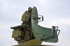 天线军人雷达 免版税图库摄影