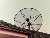 天线单选屋顶电视 库存图片