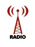 天线徽标收音机风格化向量 免版税图库摄影