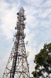 天线无线电铁塔 图库摄影