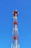 天线电池无线电铁塔 免版税库存照片