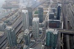 天线街市多伦多视图 库存图片