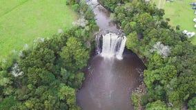 天线,瀑布,缓慢的全景, 4k 影视素材