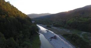 天线:上升在河上 影视素材