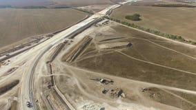 天线:新的高速公路的建筑在乡下 影视素材