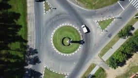 天线:有圆交通的交叉路 影视素材