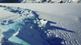 天线:贝加尔湖的冰小丘 影视素材