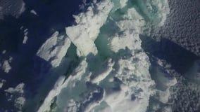 天线:贝加尔湖的冰小丘 股票视频