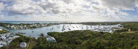 天线巴哈马的180度全景 库存图片