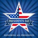 总统天美国星丝带蓝色商标 免版税图库摄影
