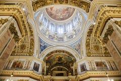 天花板以撒大教堂,圣彼得堡 免版税库存照片