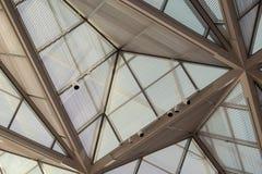 天花板和灯 库存图片