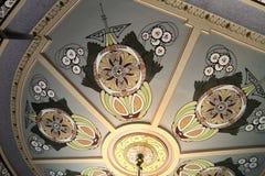 天花板在全国艺术馆nouveau在里加 库存图片