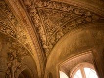 天花板在Jeronimos修道院里在里斯本葡萄牙 免版税图库摄影