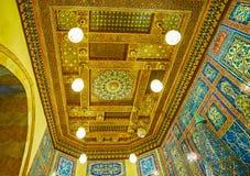 天花板在Manial宫殿,开罗,埃及大厅里  免版税库存图片