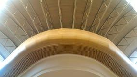 天花板建筑学,曲度,灵活性 免版税库存照片
