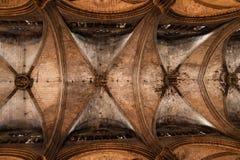 天花板教堂中殿 免版税库存图片