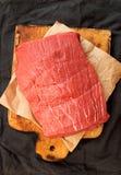天花板整个牛里脊肉 烹调晚餐 图库摄影