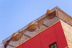 天花板由竹子制成 免版税库存照片