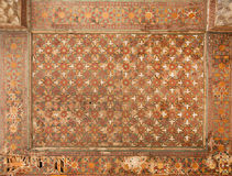 天花板的几何样式在老波斯宫殿 免版税图库摄影