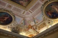 天花板艺术绘画在别墅Borghese,罗马的 免版税库存图片