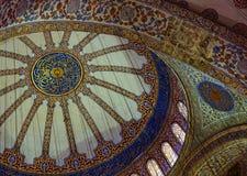 天花板蓝色清真寺 库存照片