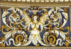 画廊天花板部分在梵蒂冈博物馆 免版税库存图片